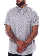 Big & Tall - Novelty Pattern Short Sleeve Button Down Shirt (B&T)-2474113