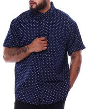 Big & Tall - Novelty Pattern Short Sleeve Button Down Shirt (B&T)-2474117