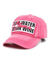 Women - Save Water Drink Wine Ballcap-2471204