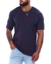 Big & Tall Faves - Short Sleeve Polka Dot T-Shirt (B&T)-2473947