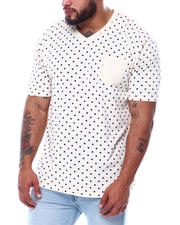 Big & Tall Faves - Short Sleeve Polka Dot T-Shirt (B&T)-2473951