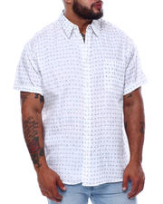 Big & Tall - Novelty Pattern Short Sleeve Button Down Shirt (B&T)-2474125