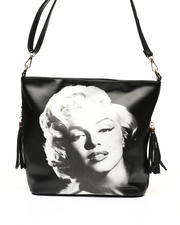 Women - Marilyn Monroe Face Print Shoulder Bag-2472014