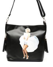 cartoons-pop-culture - Marilyn Monroe Dress Print Shoulder Bag-2472016