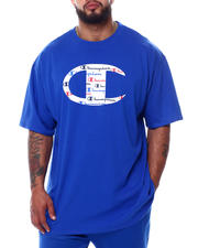 Champion - Big C Logo W/All Over Script Inside S/S Tee (B&T)-2473960