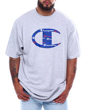 Champion - Big C Logo W/All Over Script Inside S/S Tee (B&T)-2473973