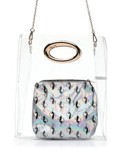 Baby Phat - Baby Phat Clear Tote W/ Silver Pouch-2473286