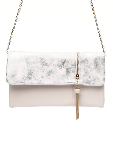 Fashion Lab - Clutch With Side Zip And Tassel