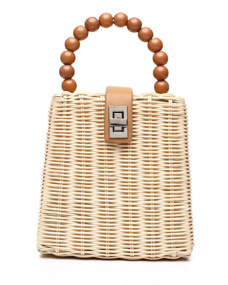 Fashion Lab - Basket Beaded Handbag