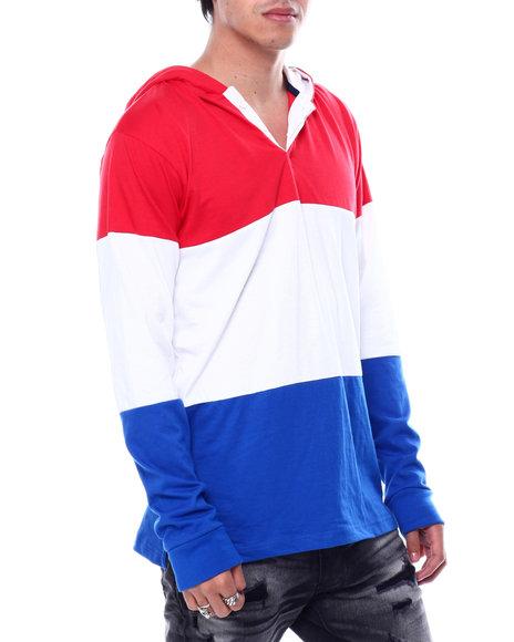 Buyers Picks - Colorblock LS Knit Hooded Shirt