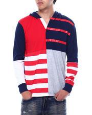 Buyers Picks - Colorblock Stripe LS Knit Hooded Shirt-2474556