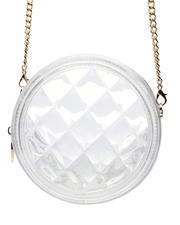 Womens-Holiday - Clear Round Quilted Jelly Crossbody-2474007
