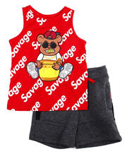 Sets - Tank Top W/ French Terry Short 2 PC Set (4-7)-2475213
