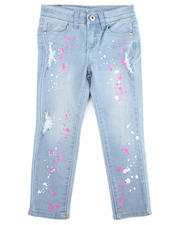Bottoms - Neon Splatter Printed Jeans (2T-4T)-2475513