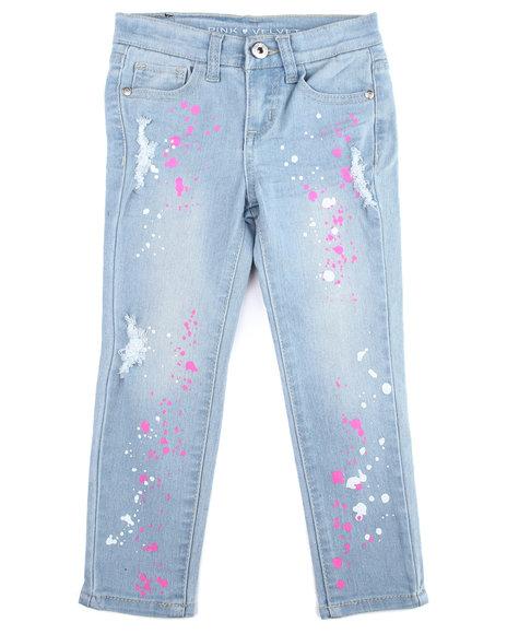 La Galleria - Neon Splatter Printed Jeans (2T-4T)