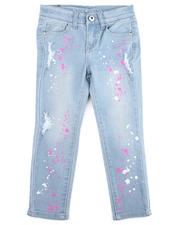 Jeans - Neon Splatter Printed Jeans (4-6X)-2475521