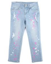 La Galleria - Neon Splatter Printed Jeans (7-16)-2475537