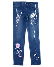 Girls - Neon Splatter Printed Jeans (4-6X)-2475492