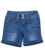 Vigoss Jeans - 2 GLITTER BUTTON ROLL CUFF DENIM BERMUDA(7-14)-2475710