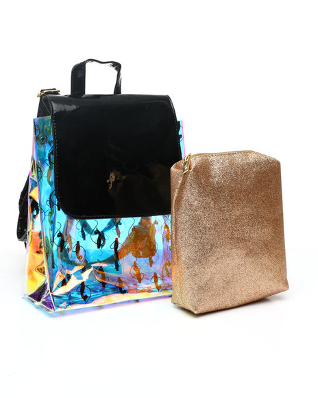 Baby Phat - Baby Phat Clear Backpack W/ Inner Bag