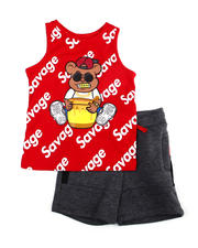Sets - Tank Top W/ French Terry Short 2 PC Set (2T-4T)-2475202