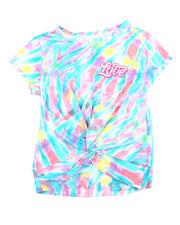Girls - Twisted Front Tie Dye Yummy Tee W/Foil Art (7-16)-2475368