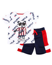 Sets - Crewneck Tee W/ French Terry Short 2 PC Set (4-7)-2475248