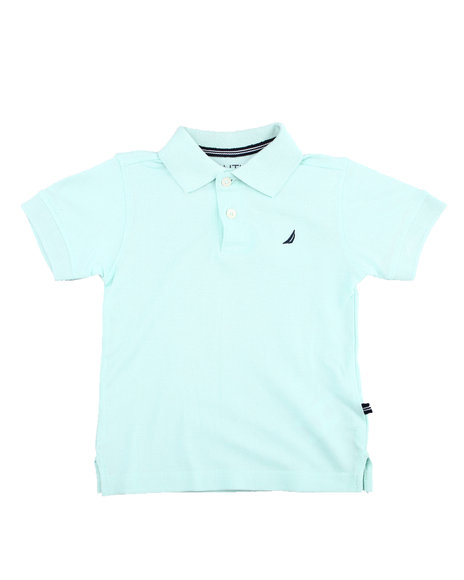 Nautica - Nautica S/S Core Anchor Solid Deck Polo (4-7)