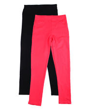 Girls - Twin Pack French Terry Jeggings (4-6X)-2475450