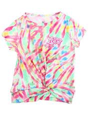 Girls - Twisted Front Tie Dye Yummy Tee W/Foil Art (7-16)-2475381