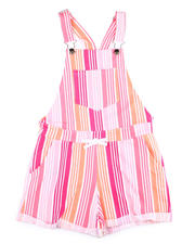 Sizes 7-20 - Big Kids - French Terry Printed Shortall (7-16)-2475386