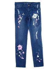 La Galleria - Neon Splatter Printed Jeans (7-16)-2475476