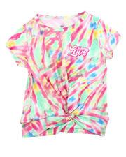 Girls - Twisted Front Tie Dye Yummy Tee W/Foil Art (4-6X)-2475852