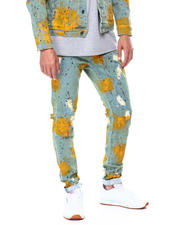 Crysp - PACIFIC YELLOW PAINT SPLATTER Jean-2475909