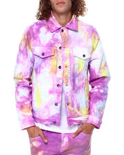 Crysp - BERING DENIM JACKET Pastel TIEDYE-2476413