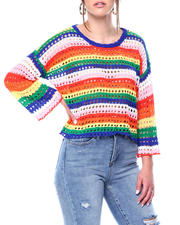 Sweaters - Crochet Colorblock Pullover-2476961