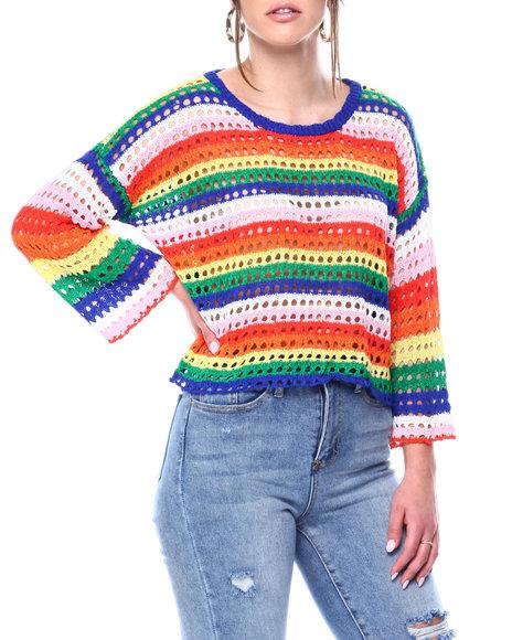 Fashion Lab - Crochet Colorblock Pullover