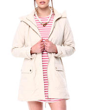 Womens-Holiday - HOODED WINDBREAKER  PARKA W/ FLAP POCKETS-2472817