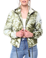 Womens-Holiday - TIE DYE HOODED FULL ZIP WINDBREAKER JACKET-2476968