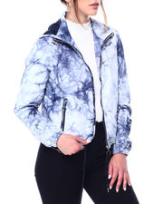 Womens-Holiday - TIE DYE HOODED FULL ZIP WINDBREAKER JACKET-2472836