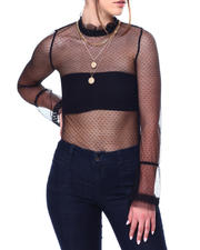 Women - Long sleeve mesh top-2476886