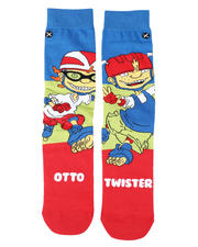 DRJ SOCK SHOP - Otto & Twister 360 Crew Socks-2473327