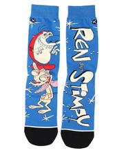 DRJ SOCK SHOP - Ren & Stimpy Hilarious Crew Socks-2473331