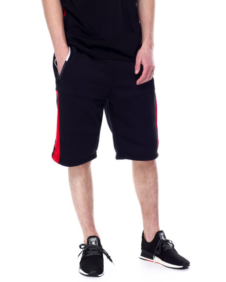 Akademiks - Seamed Side Stripe Fleece Short