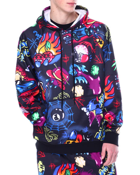 Pink Dolphin - AIRBRUSH HALLUCINATIONS HOODIE