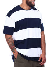 Big & Tall Faves - Short Sleeve Crew Rugby Stripe T-Shirt (B&T)-2476683