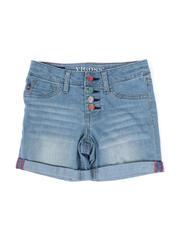 Vigoss Jeans - Multi Button Roll Cuff Denim Mid Shorts (7-14)-2475435