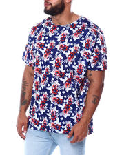 Short-Sleeve - Soft Floral All Over Print T-Shirt (B&T)-2478394
