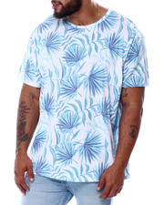 Short-Sleeve - Fan Palm All Over Print Faded T-Shirt (B&T)-2478408