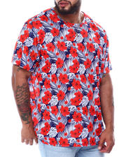 Buyers Picks - Hibiscus Floral Palm All Over Print T-Shirt (B&T)-2478423